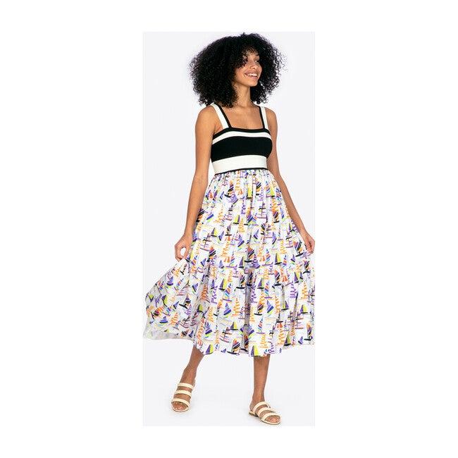 Women's Gianna Dress, Sailboat Print