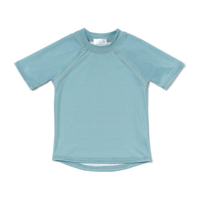 Short Sleeve Rashguard, Pearl Street Blue