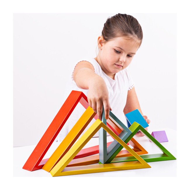 Wooden Stacking Triangles