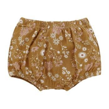 Mustard Floral Bamboo Bloomers