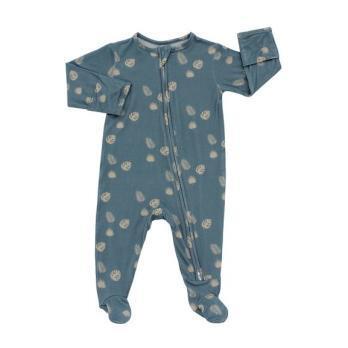 Blue Palm Footed Pajama