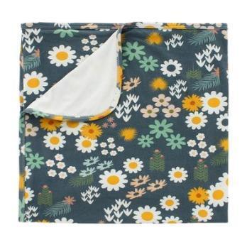 Blue Daisy Luxury Bamboo Blanket