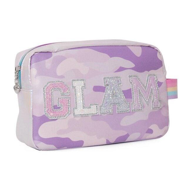 Glam' Camo Print Lavender Pouch, Lavender