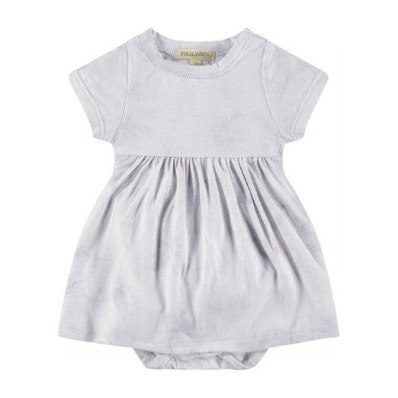 Baby Tie Dye S/S Dress Bodysuit, Grey