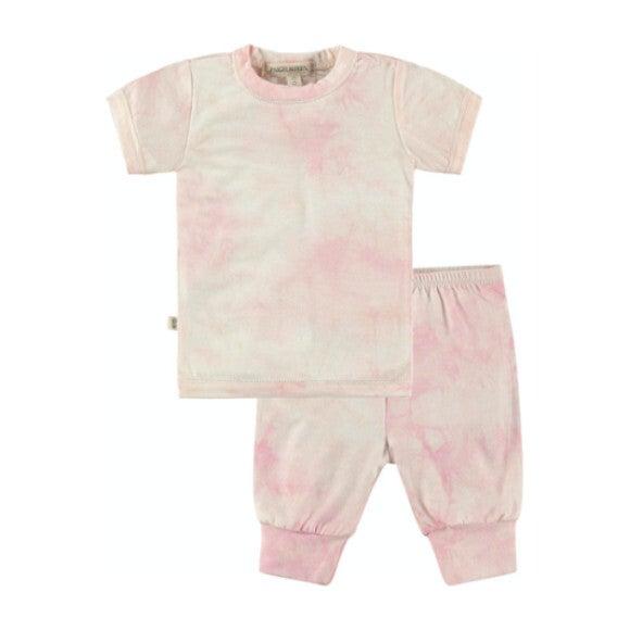 Baby Tie Dye Loungewear Set, Pink
