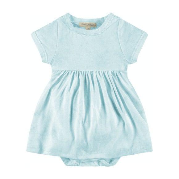 Baby Tie Dye S/S Dress Bodysuit, Aqua