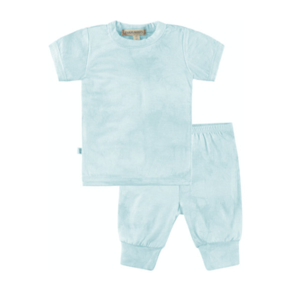 Baby Tie Dye Loungewear Set, Aqua