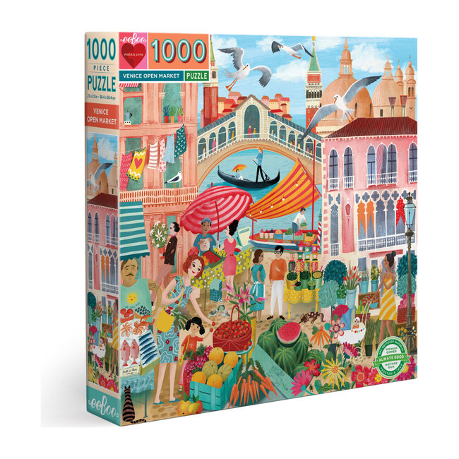 Venice Open Market 1000 Piece Puzzle