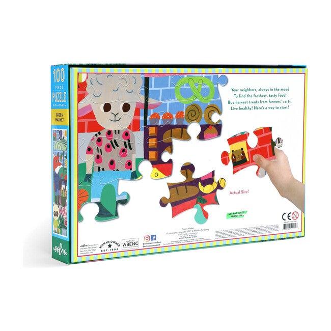 Green Market 100 Piece Puzzle