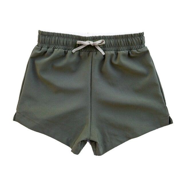 Club Short - Benny, Olive Green Athletic Short
