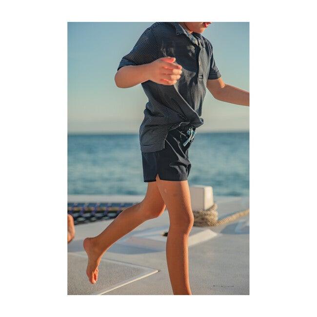 Club Short - Henry, Navy Blue Athletic Short
