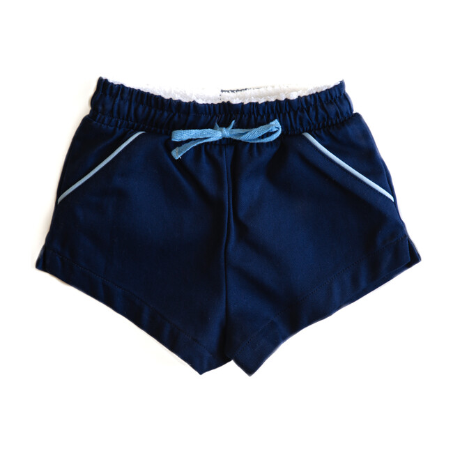 Classic Short - Grayson, Navy with Light Blue