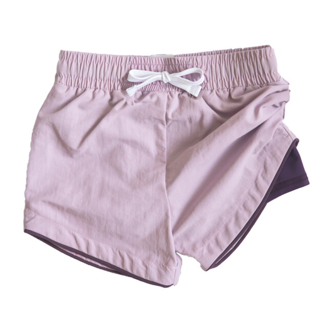 Cabana Short - Lucca, Purple Swim Short with Eggplant Liner
