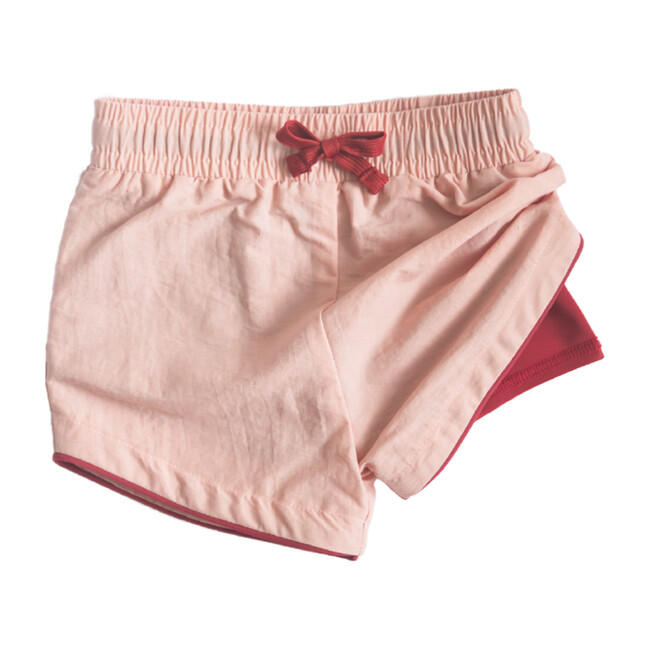Cabana Short - Cole, Pink with Cranberry Liner Swim Short