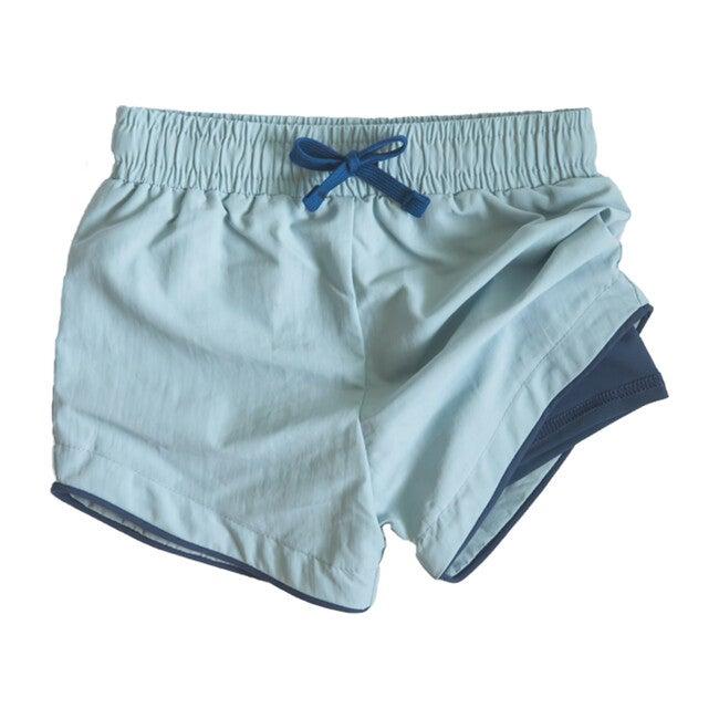 Cabana Short - Owen, Light Blue with Navy Liner Swim Short