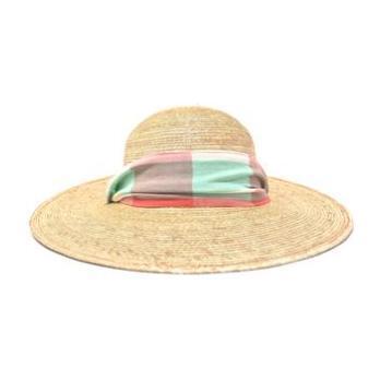 x Sunshine Tienda Kid Sun Hat, Plaid & Stripes