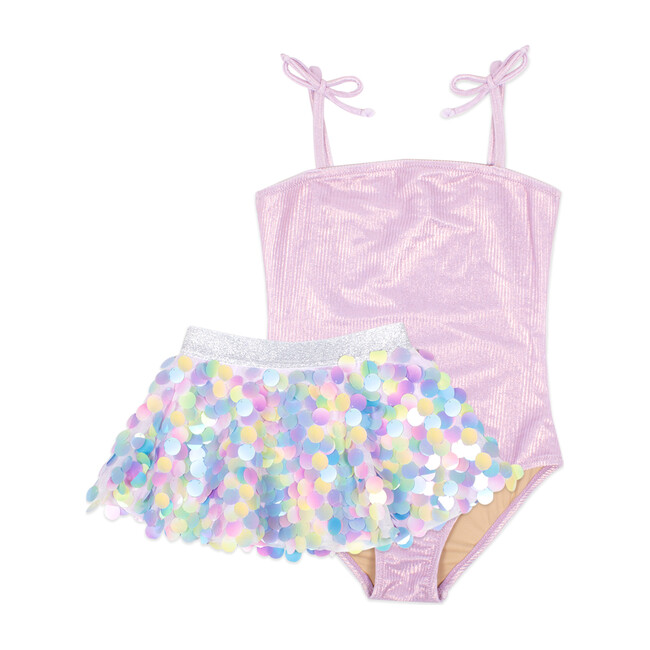 One Piece with Pailette Skirt - One Pieces - 1