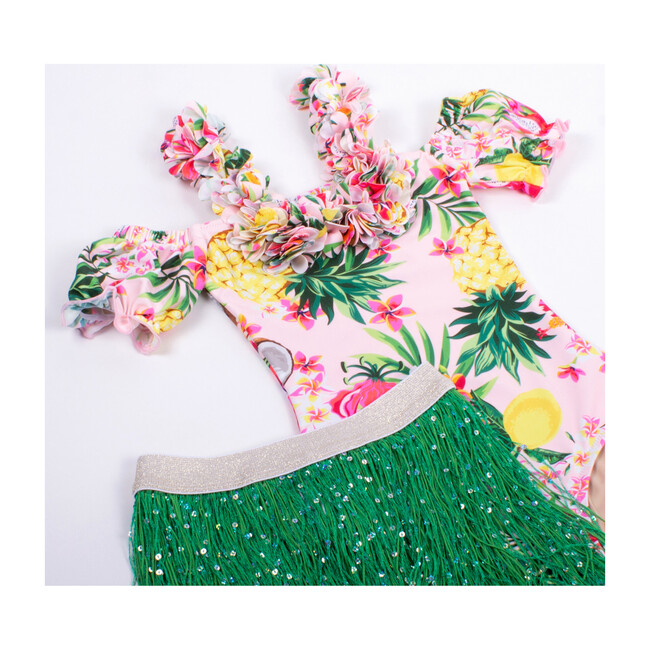 Off the Shoulder One Piece, Hula Girl