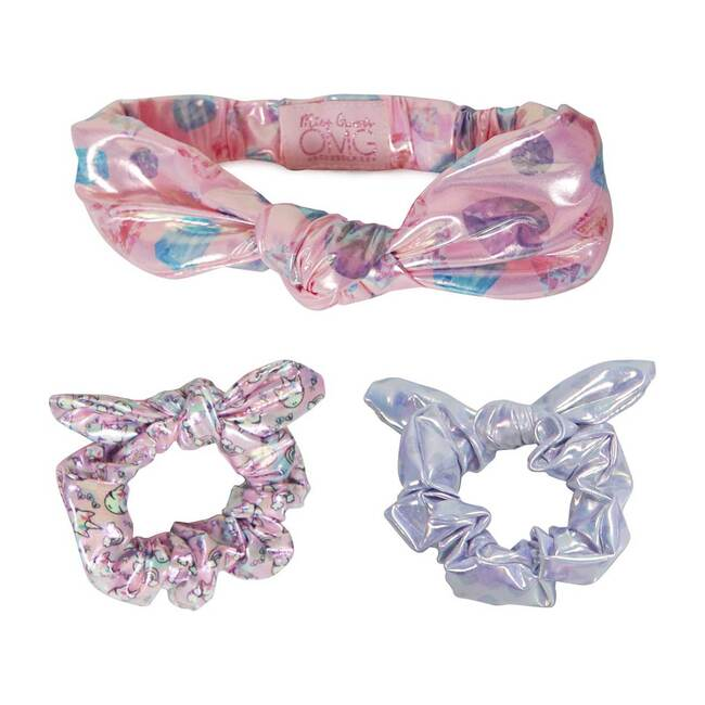 Miss Gwen Dazzling Diamonds Headband and Scrunchies Set, Multi