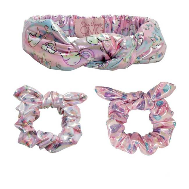 Miss Gwen Bling Headband and Scrunchies Set, Multi