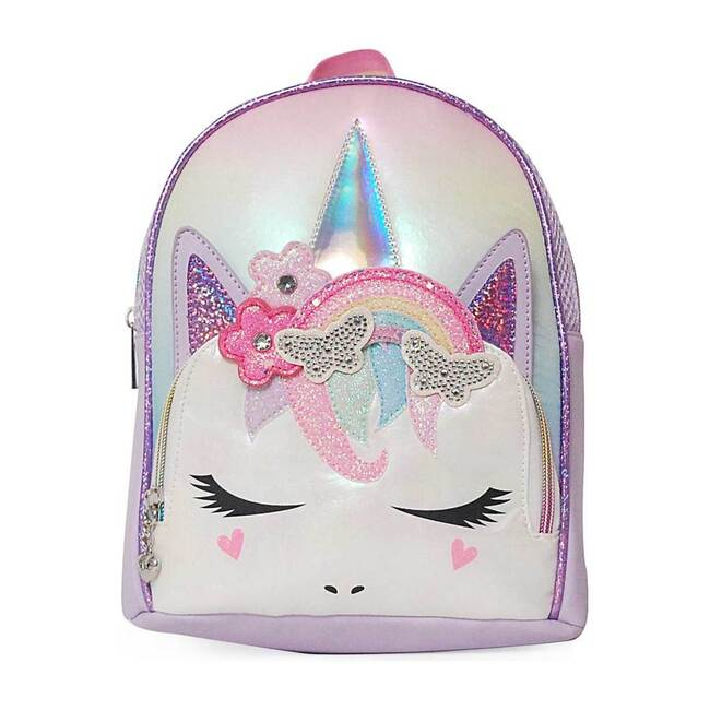 Miss Gwen Rainbow Crown Lavender Mini Backpack, Lavender
