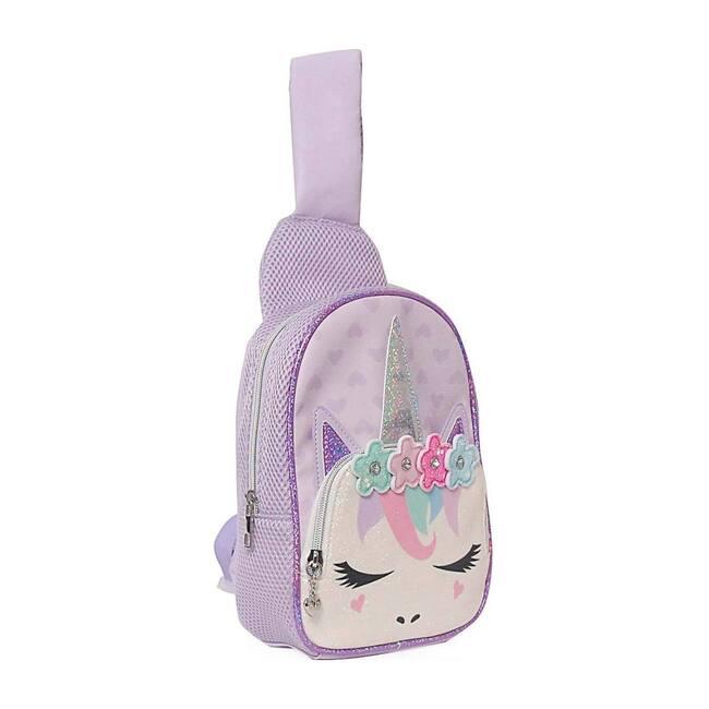 Miss Gwen Flower Crown Mini Sling Backpack, Purple
