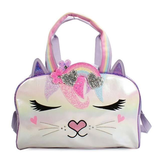 Miss Bella Rainbow Butterfly Flower Crown Duffle Bag, Purple