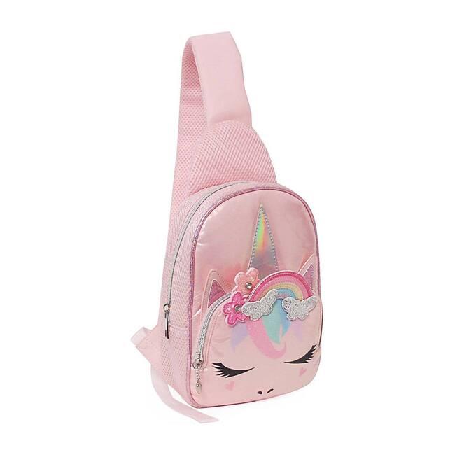 Miss Gwen Rainbow Crown Mini Sling Backpack, Pink