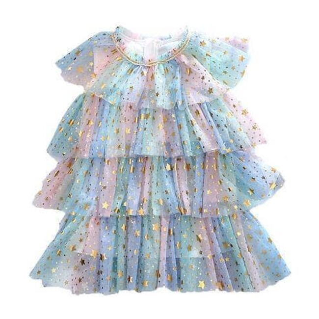 Pastel Stars Dress, Rainbow