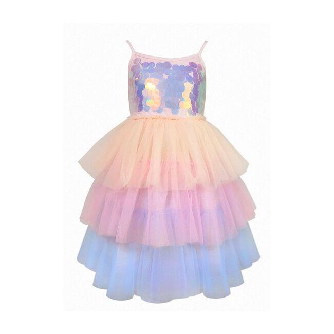 Paillette Ombre Tutu Dress, Multi