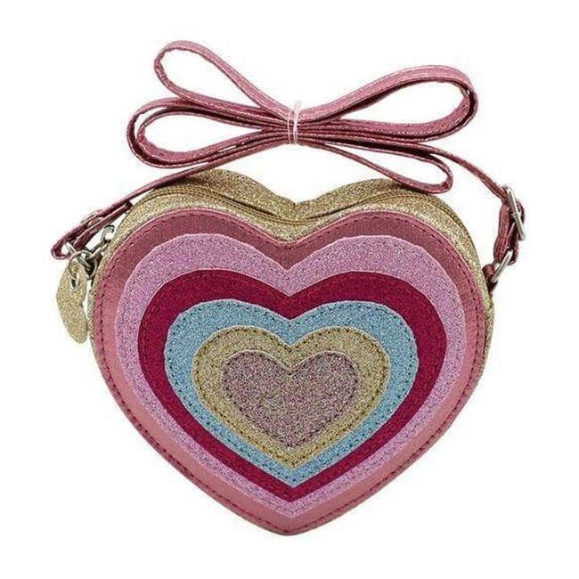Layered Hearts Mini Crossbody, Rainbow