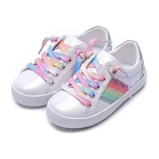 Striped Sneakers, Rainbow