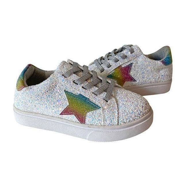 Star Glitter Sneaker, Rainbow