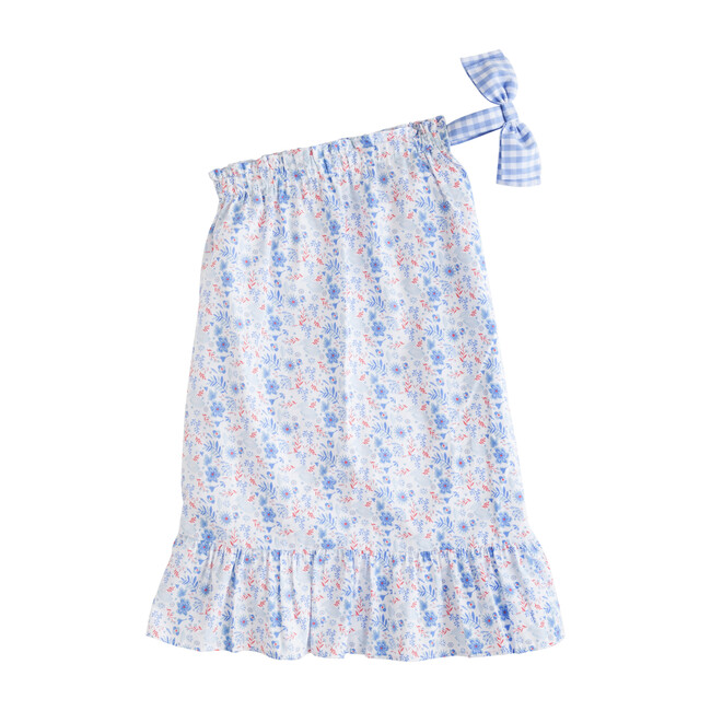 One Shoulder Bow Dress, Rosemary Floral