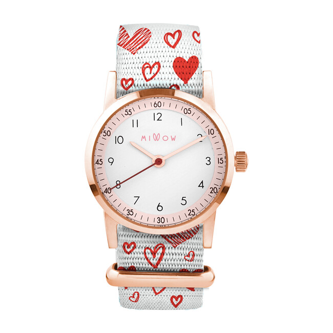 Millow Blossom Watch, Hearts and Rose Gold
