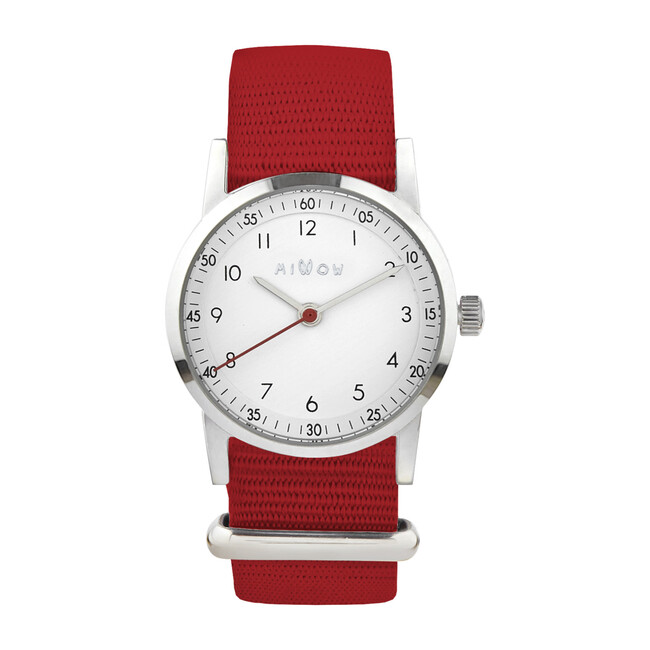 Millow Classic Watch, Red and Silver