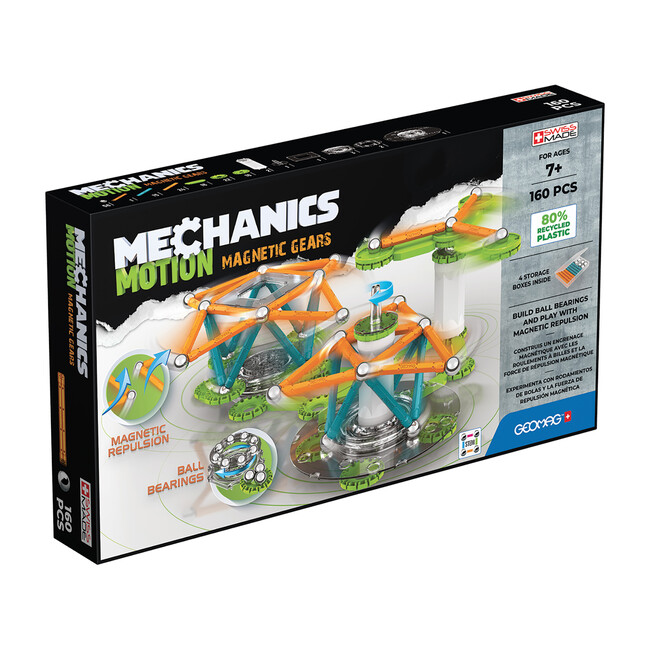Magnetic Gears Recycled, 160 Pieces