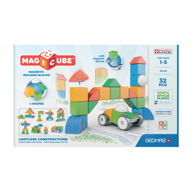Magicubes Shapes Recycled, 32 Pieces