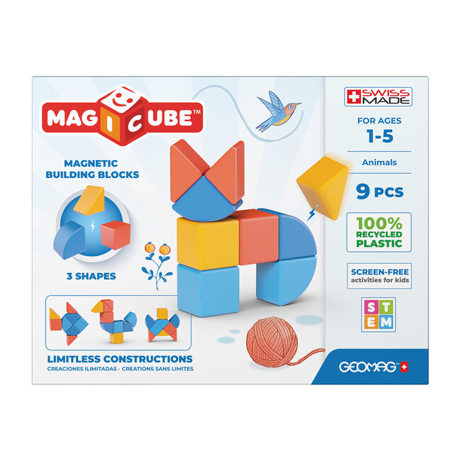 Magicubes Shapes Recycled, 9 Pieces