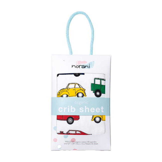 Norani Crib Sheet, Colorful Cars - Crib Sheets - 1