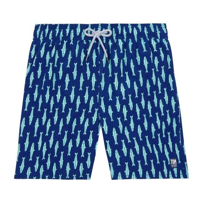 Mens Sardine Swim Trunk, Ink Blue