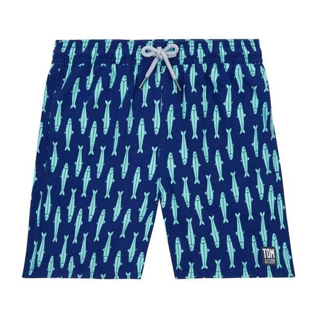 Boys Sardine Swim Trunk, Ink Blue