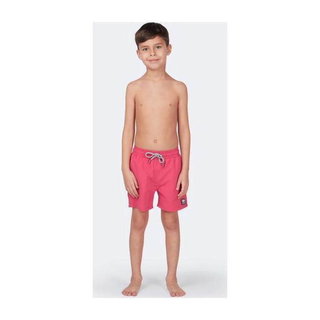 Boys Solid Swim Trunk, Hot Pink