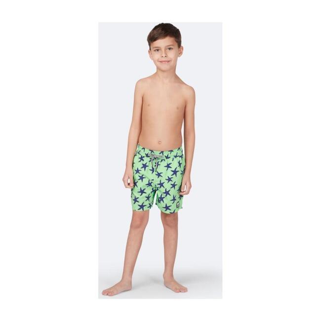 Boys Starfish Swim Trunk, Fresh Green