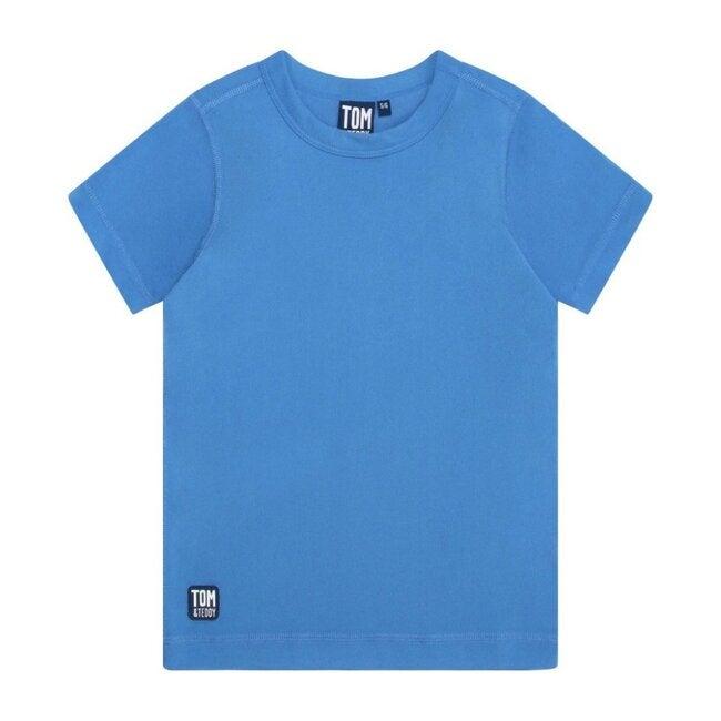 Boys Short Sleeve Rash Top, Marine Blue