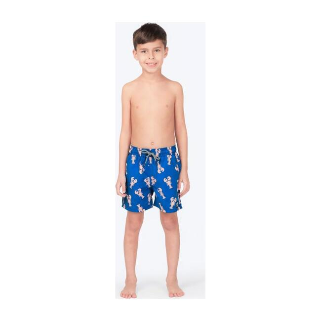 Boys Lobster Swim Trunk, Mid Blue
