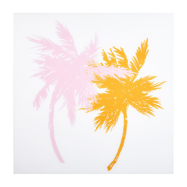 Sunset Palm Trees on Acrylic, Small