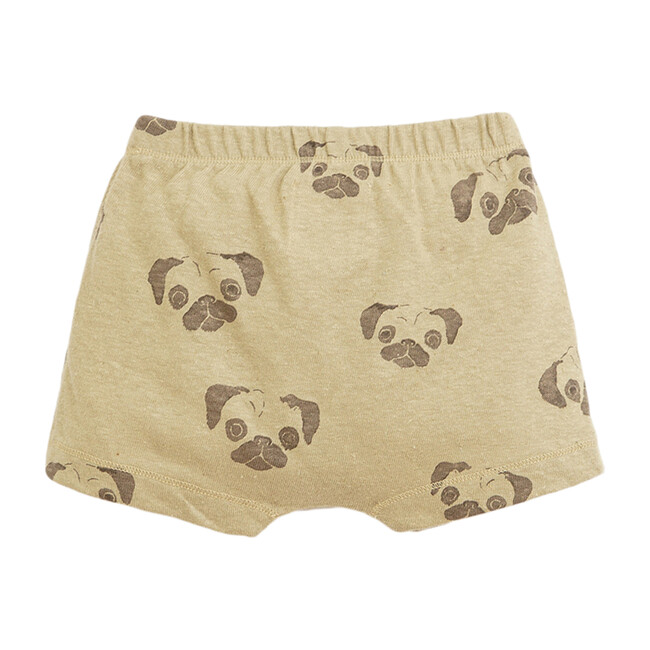Shorts, Beige with Pug Print