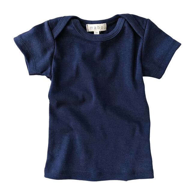 Organic Cotton Lap Tee Short Sleeve, Midnight Blue