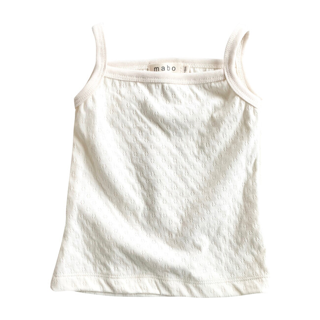 Organic Cotton Camisole, Natural Pointelle